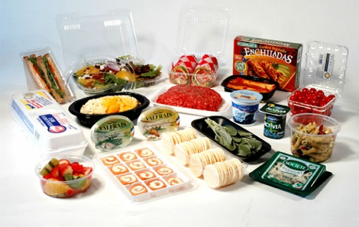 Image Depicts The Plastic Plymers In Food Packaging.